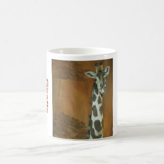 アフリカのキリン-マグ!!! コーヒーマグカップ