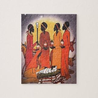 アフリカのクリスマスの出生場面 ジグソーパズル