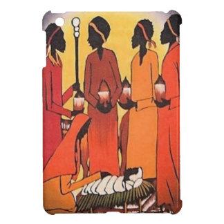 アフリカのクリスマスの出生場面 iPad MINIケース