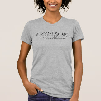 アフリカのサファリのヒースの青の上 Tシャツ