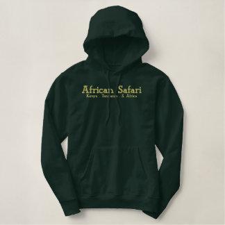 アフリカのサファリの軍隊の緑の汗 刺繍入りパーカ