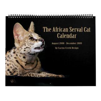 アフリカのサーバル猫のカレンダー カレンダー