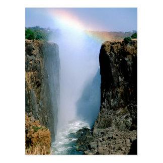 アフリカのザンビア、ヴィクトリア滝の国立公園 ポストカード