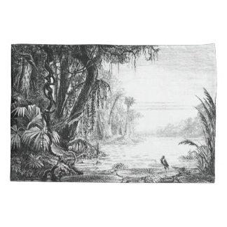 アフリカのジャングルの河川水の庭の枕カバー 枕カバー