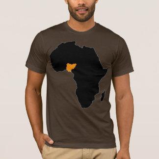 アフリカのナイジェリアのハート Tシャツ
