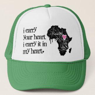 アフリカのハートを運んで下さい キャップ
