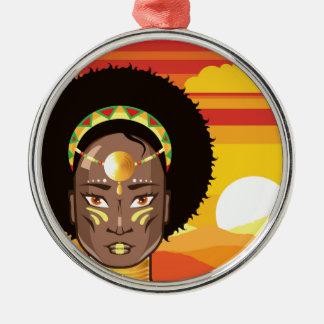 アフリカのプリンセス メタルオーナメント