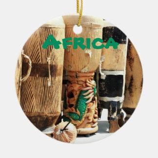 アフリカのボンゴのクリスマスのオーナメント セラミックオーナメント
