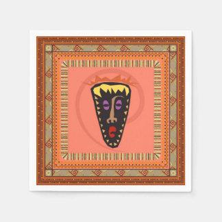 アフリカのマスク スタンダードカクテルナプキン