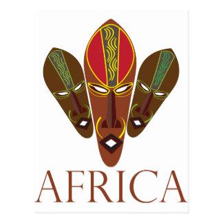 アフリカのマスク ポストカード