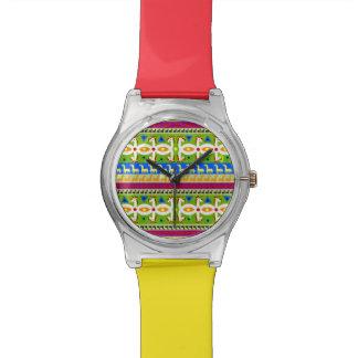 アフリカのユニコーンパターン 腕時計