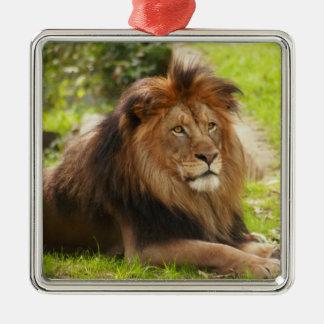 アフリカのライオンのオーナメント メタルオーナメント