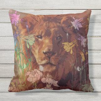 アフリカのライオンの屋外の装飾用クッション アウトドアクッション