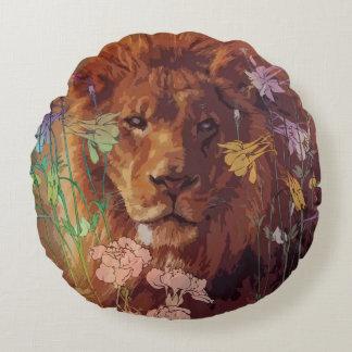 """アフリカのライオンの綿の円形の装飾用クッション(16"""") ラウンドクッション"""