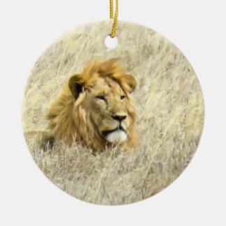 アフリカのライオン セラミックオーナメント