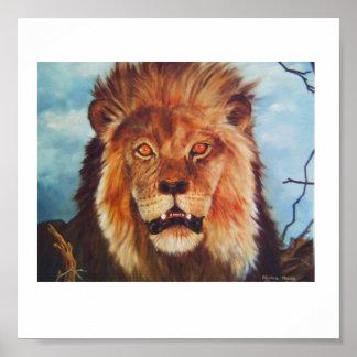 アフリカのライオン ポスター