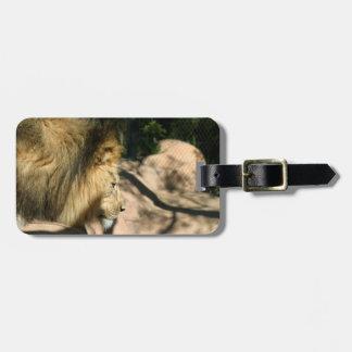 アフリカのライオン ラゲッジタグ