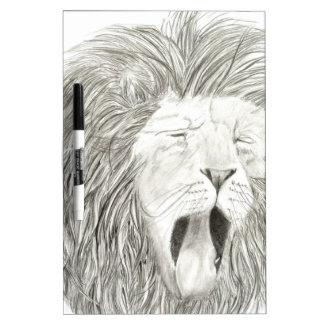 アフリカのライオン; 野性生物のアートワークのコレクション ホワイトボード