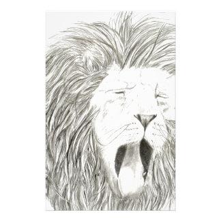 アフリカのライオン; 野性生物のアートワークのコレクション 便箋