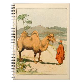 アフリカのラクダおよび砂漠の旅行者 ノートブック