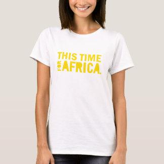 アフリカのワイシャツのための今回を黄色にして下さい Tシャツ
