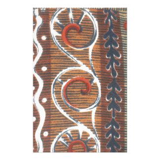 アフリカのヴィンテージの伝統的な色 便箋