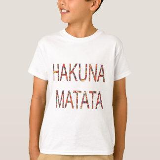 アフリカのヴィンテージ色Hakuna Matata.jpg Tシャツ