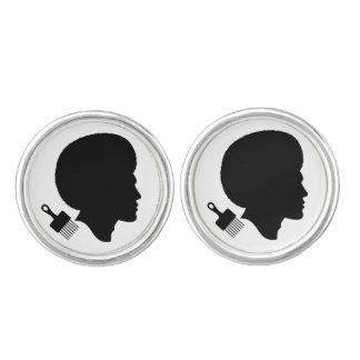 アフリカの人およびアフリカはカフスボタンのあたりで選びます カフボタン