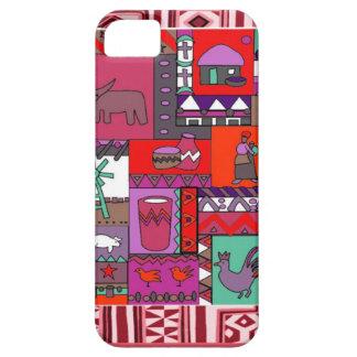 アフリカの人工物-ピンク iPhone SE/5/5s ケース