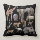 アフリカの動物たち クッション