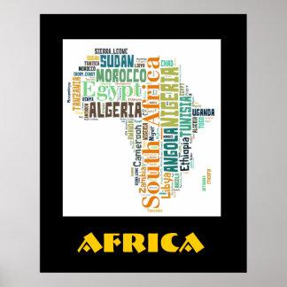 アフリカの単語の芸術の壁ポスター ポスター