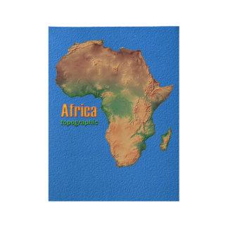 アフリカの地勢ポスター ウッドポスター