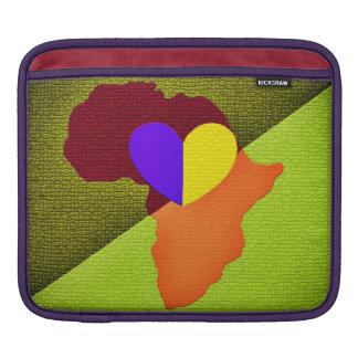 アフリカの地図のiPadの袖 iPadスリーブ