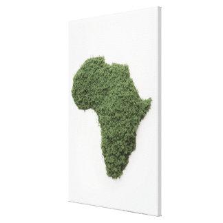 アフリカの地図は草の作りました キャンバスプリント