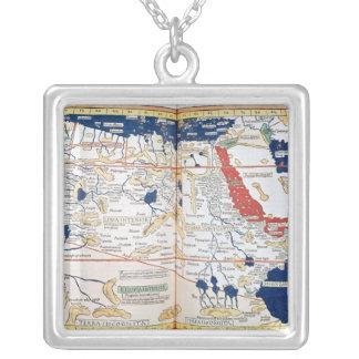 アフリカの地図 シルバープレートネックレス