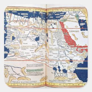 アフリカの地図 スクエアシール