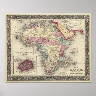 アフリカの地図 ポスター