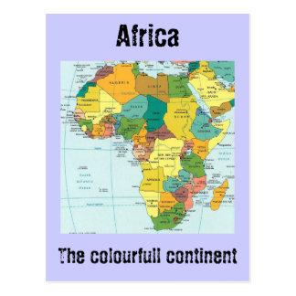 アフリカの地図 ポストカード