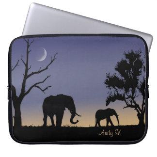 アフリカの夜明け ラップトップスリーブ
