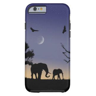 アフリカの夜明け-象 ケース