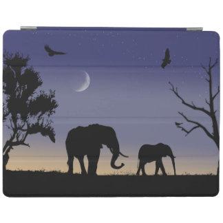 アフリカの夜明け-象 iPadスマートカバー