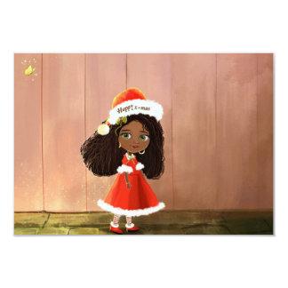 アフリカの女の子のMindy-幸せなx-masの招待 カード