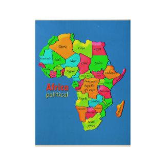 アフリカの政治ポスター ウッドポスター