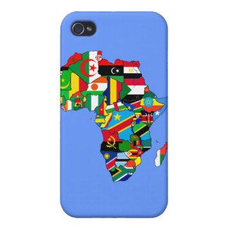 アフリカの旗の旗の地図-アフリカ文化ギフト iPhone 4 CASE