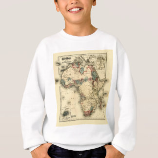 アフリカの旧式なアフリカのプリントのViintage 1874の地図 スウェットシャツ