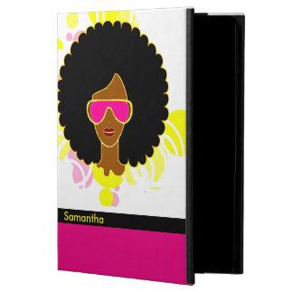 アフリカの毛のピンクのサングラスのiPadの空気箱 iPad Airケース