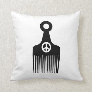 アフリカの毛の平和 クッション