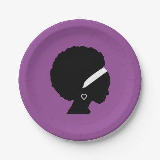 アフリカの毛の紫色 ペーパープレート