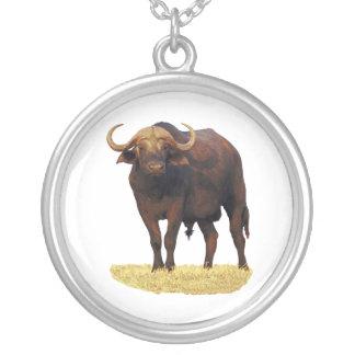 アフリカの水牛 シルバープレートネックレス