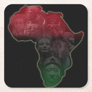 アフリカの皇族のコースター スクエアペーパーコースター